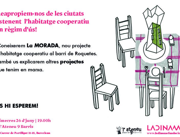 Presentem La Morada: nou projecte d'habitatge cooperatiu al barri de Roquetes
