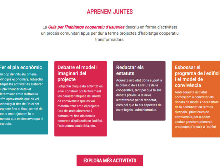 Guia per l'habitatge cooperatiu, una plataforma d'accés universal
