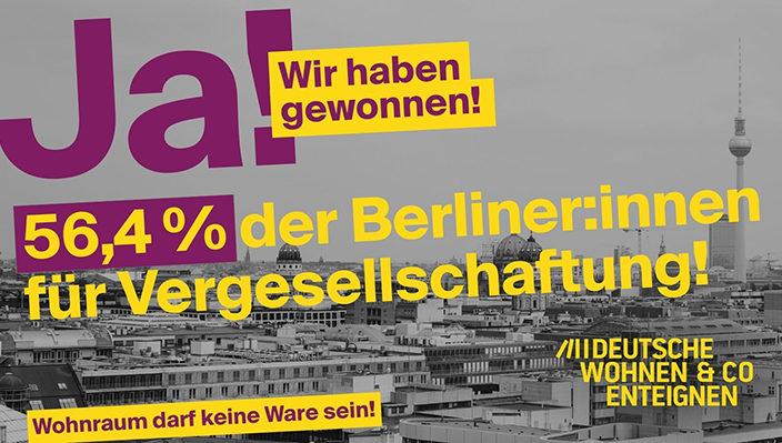 Berlín vota a favor d'expropiar per a recuperar el valor social de l'habitatge